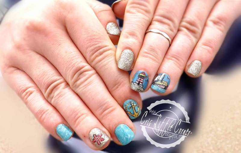 Summer VACATION nail art by Cris'