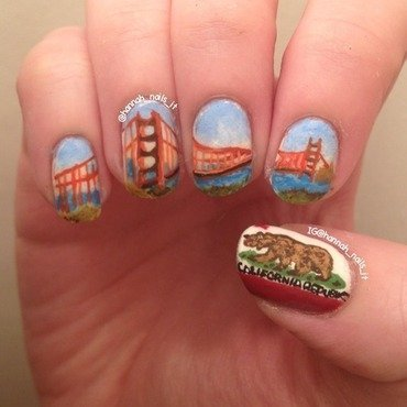 Save Me San Francisco nail art by Hannah