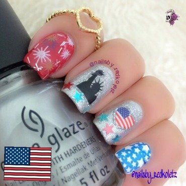 4th of July nail art by MD Nav