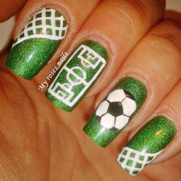 Soccer nail art nail art by Ewa