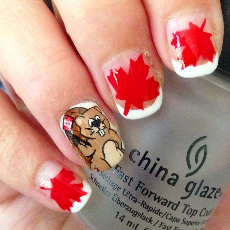 Canada Day Beaver Nail Art By Niki My Oh My Nails Nailpolis