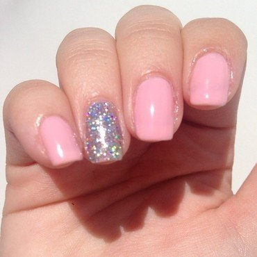 Painted Polish Drunk On Holo and Chasing Rainbows Lacquer Peony Swatch by sarah regalado