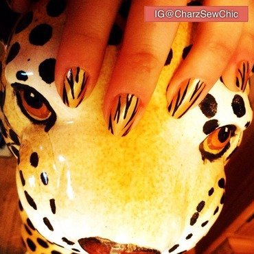 Jungle fever nail art by Charlotte Speller