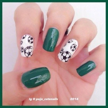 FIFA World Cup nails nail art by Puja Malhotra