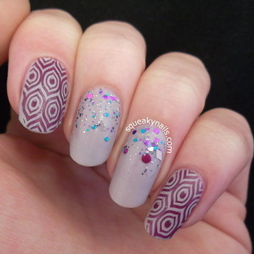Subtle Mix 'n Match nail art by Squeaky  Nails