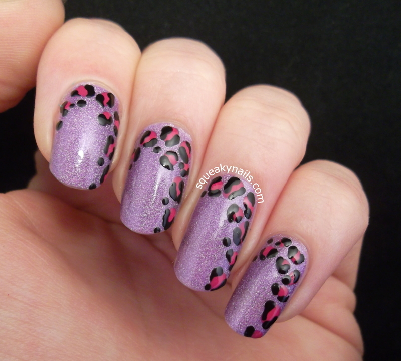 Leopard on the Side nail art by Squeaky  Nails
