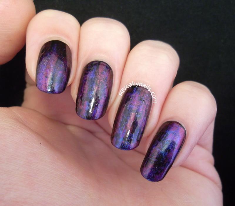 Jewel Tones and Oil Slicks nail art by Squeaky  Nails