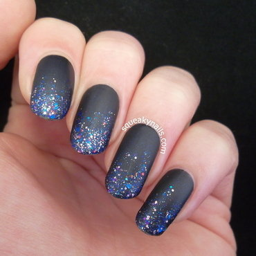 Shimmer Polish Stephanie Gradient nail art by Squeaky  Nails