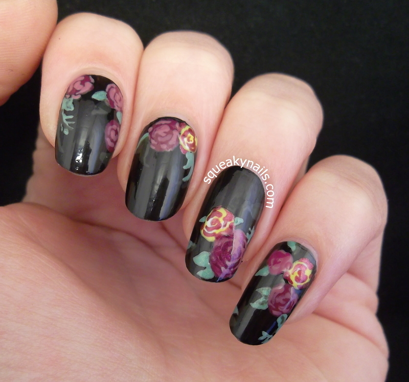 Dr Martens Victorian Flowers nail art by Squeaky  Nails