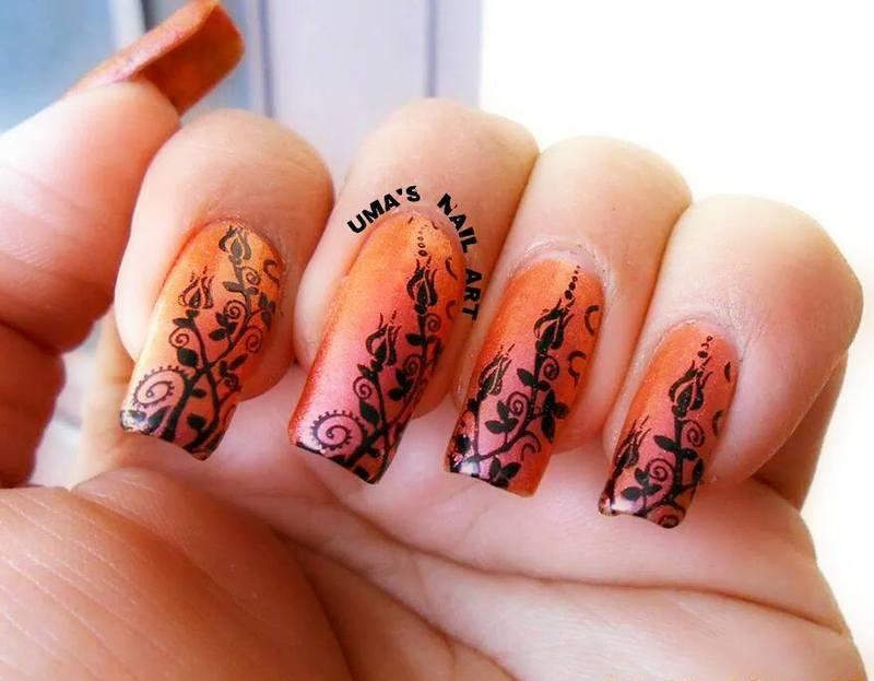 crazy chrome nail art by Uma mathur