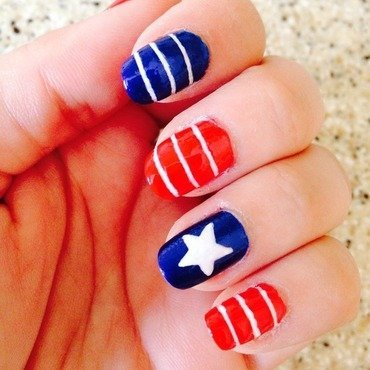 Happy 4th July nail art by Natasha Brinn