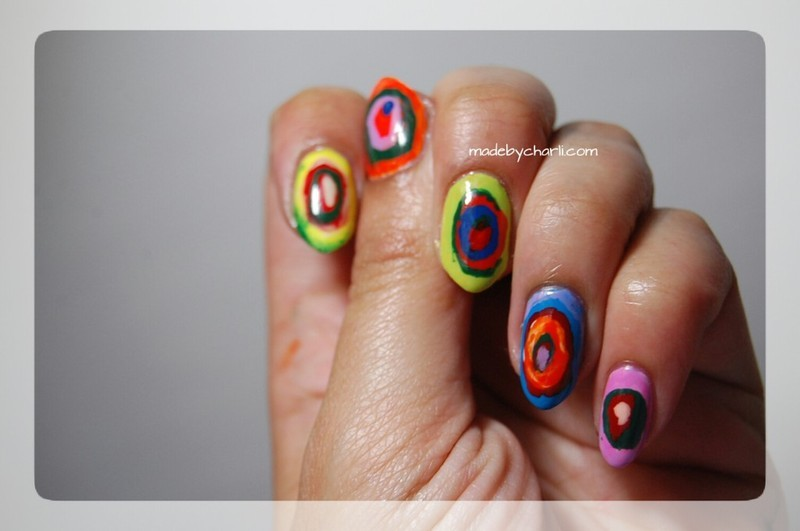 Kandinsky Art Nails  nail art by Charli Searchwell-Guest