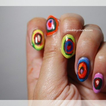 Kandinsky Art Nails  nail art by Charli Searchwell-Guest