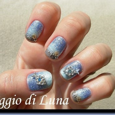 Summer manicure with mini fish 3D nail art decoration nail art by Tanja