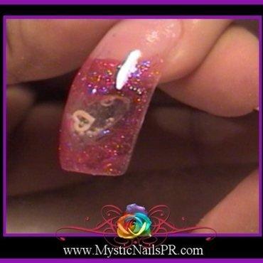 Bubbled Heart ♥ by Jennifer Perez nail art by Jennifer Perez ♥ Mystic Nails