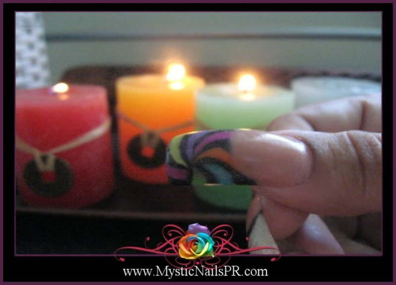 Candy Nails ♥ by Jennifer Perez nail art by Jennifer Perez ♥ Mystic Nails