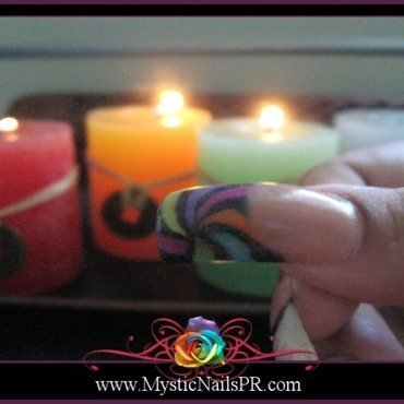 Candy Nails ♥ by Jennifer Perez nail art by Jennifer Perez ♥ Mystic Nails