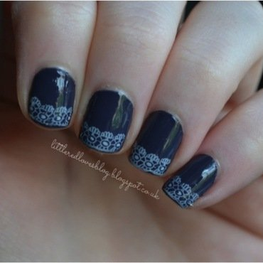 Born Pretty Store Lace Stamping Plate nail art by Kimberley