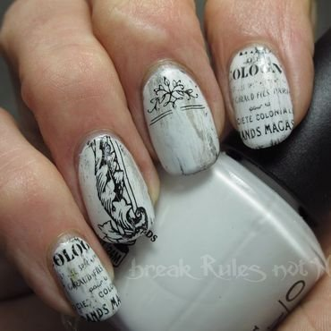 Shabby chic furniture.. nail art by Michelle