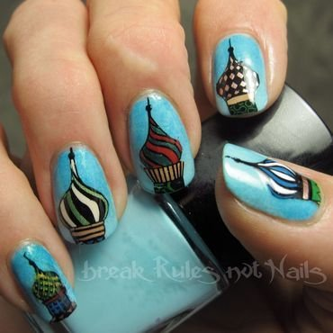 St. Basil's Cathedral  nail art by Michelle