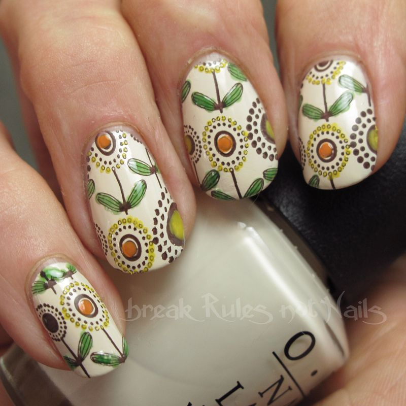 70's furnishings  nail art by Michelle