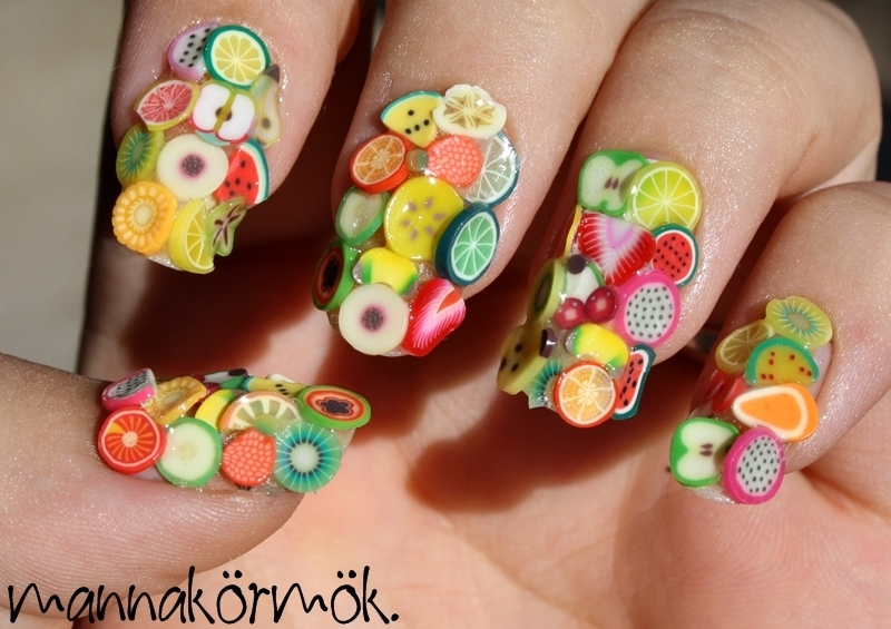 furit salad nail art by Marianna Kovács