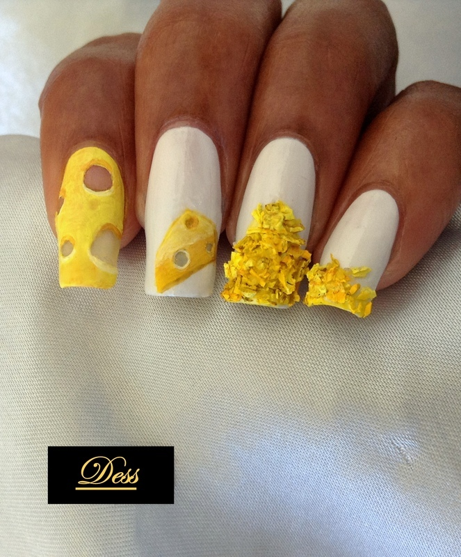 Soo cheesy  nail art by Dess_sure