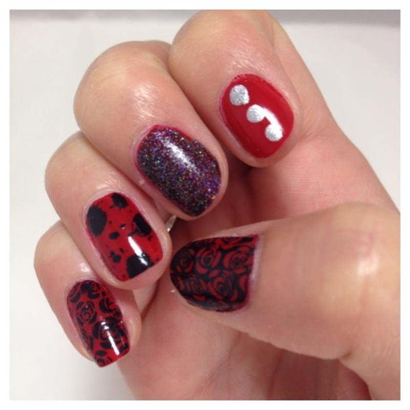 Rock n roll nails nail art by Dju Nails