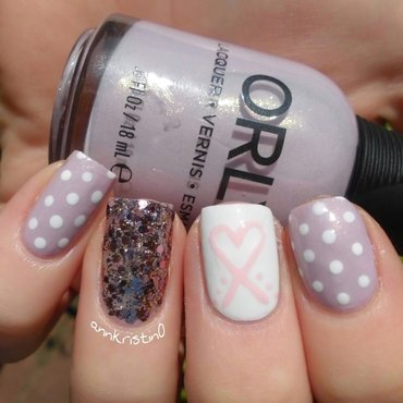 Orly Hope Breastcancer Awareness nail art by Ann-Kristin
