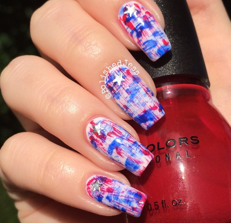 Independence day distressed nails nail art by polishedjess independence day distressed nails nail art by polishedjess prinsesfo Image collections