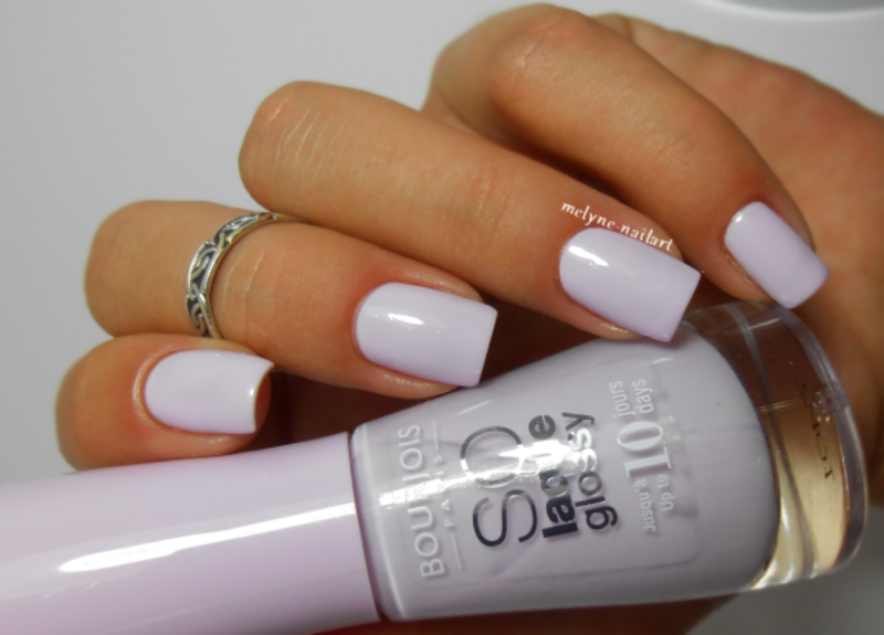 Bourjois Peace and Mauve Swatch by melyne nailart