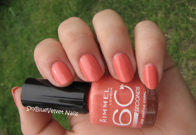 Rimmel 60 Seconds 415 Instyle Coral Swatch by Sky Blue Velvet Nails ...