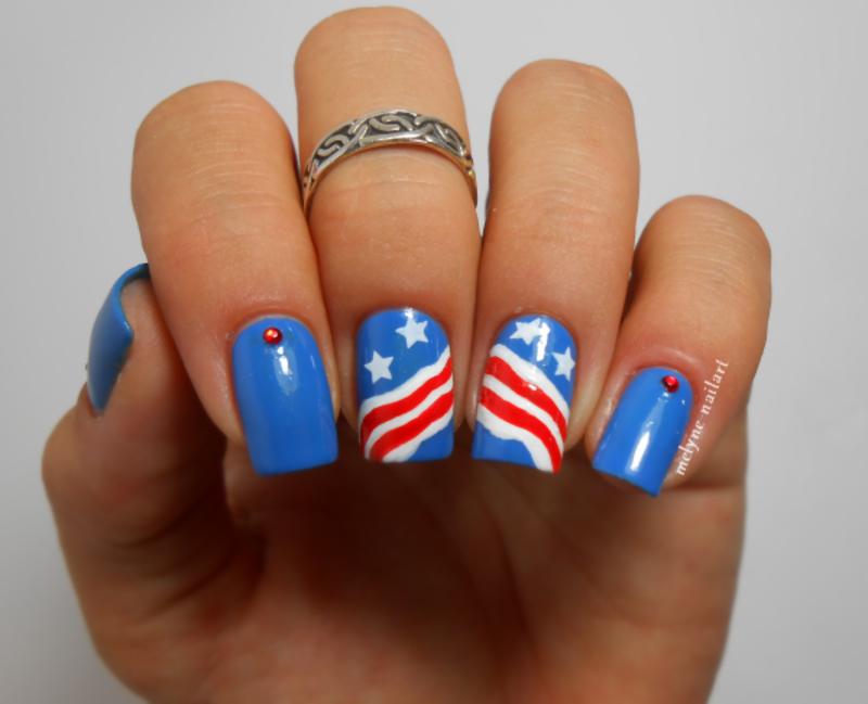nail art 4th of July nail art by melyne nailart