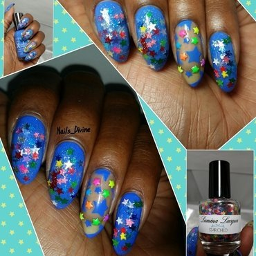 Star Gazin' nail art by Nails_Divine