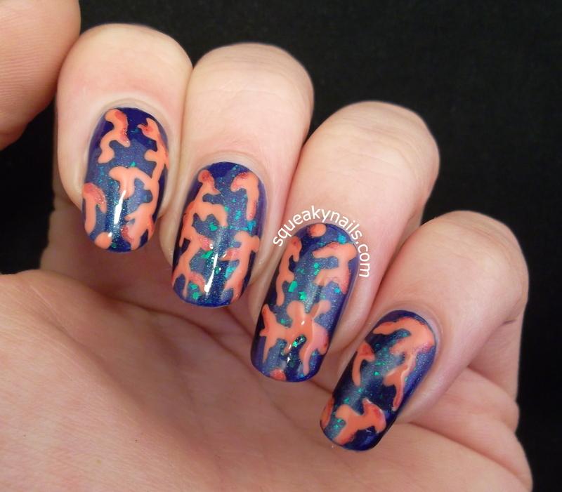 Coral Nails nail art by Squeaky  Nails
