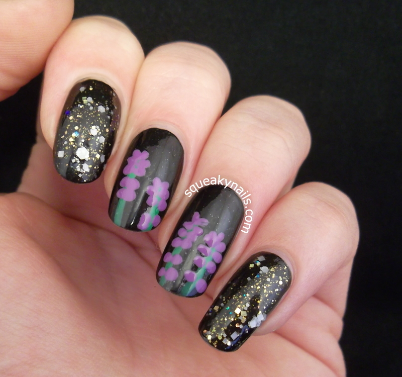 Lavender Nails nail art by Squeaky  Nails
