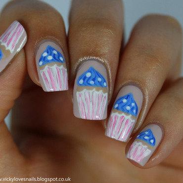 Cupcake Nail Art  nail art by Vicky Standage