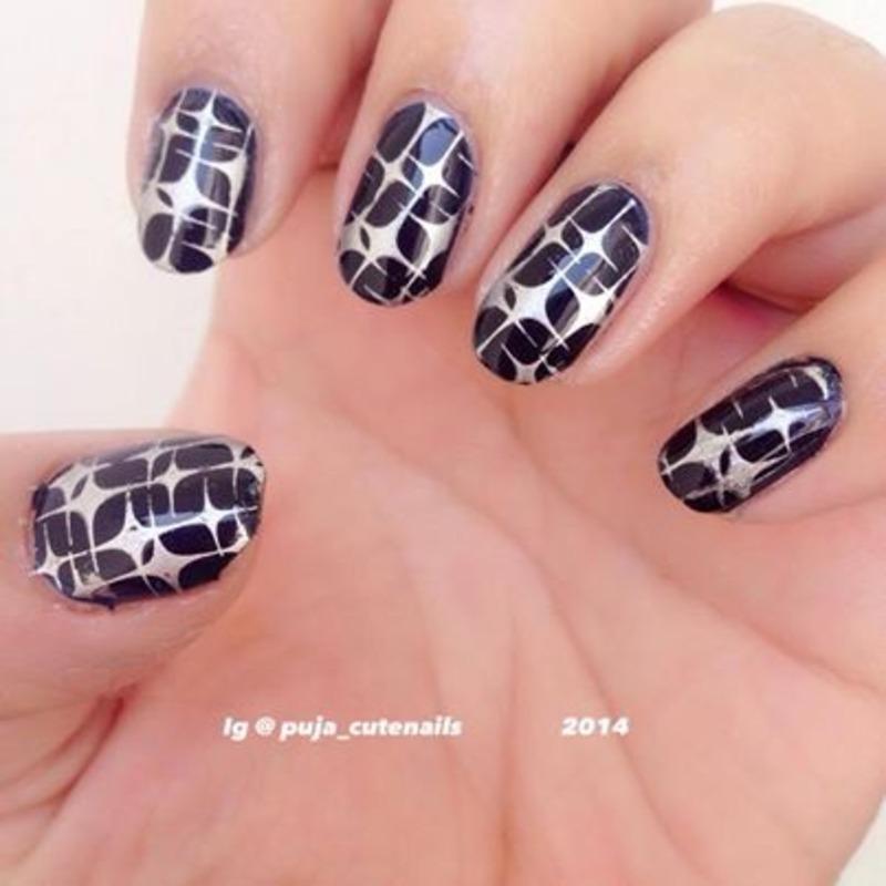 Galaxy star nails nail art by Puja Malhotra