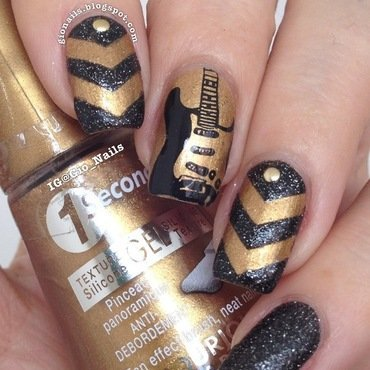 I Love Rock 'n Roll nail art by Giovanna - GioNails