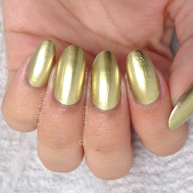 Sally Hansen Color Foil Liquid Gold Swatch by Kasey Campa