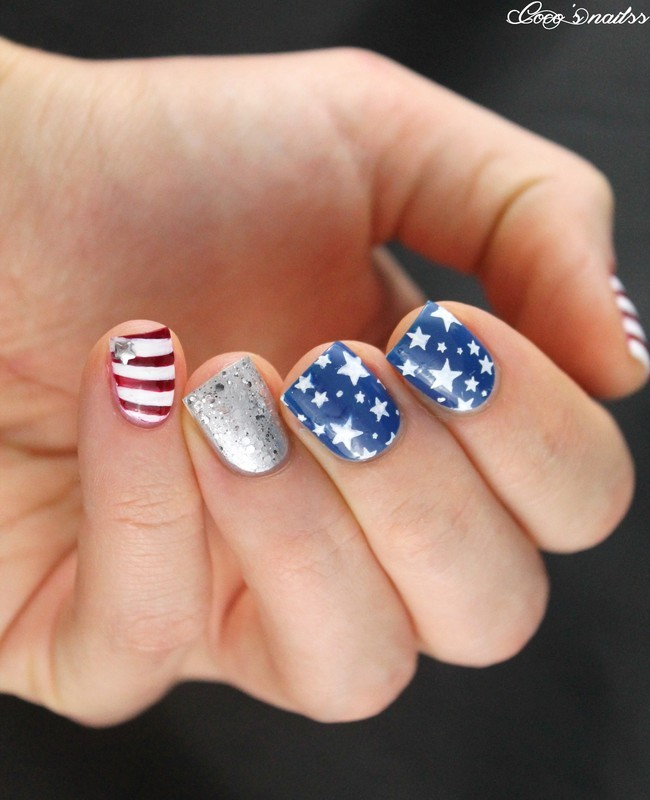 4th of July nails ! nail art by Cocosnailss