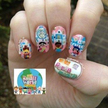 It's a Small World After All... nail art by Hannah