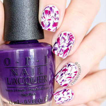 Brushstrokes nail art by Temperani Nails