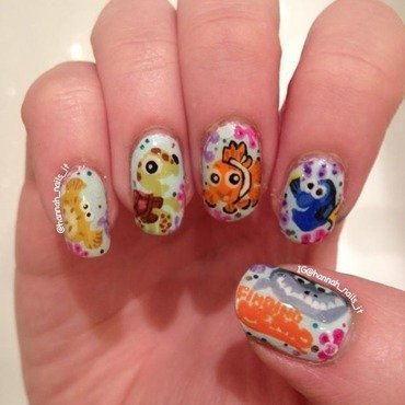 Finding Nemo nail art by Hannah
