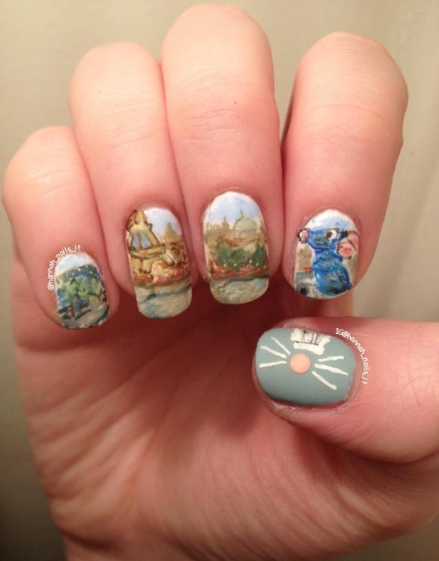 Ratatouille Nail Art By Hannah Nailpolis Museum Of Nail Art