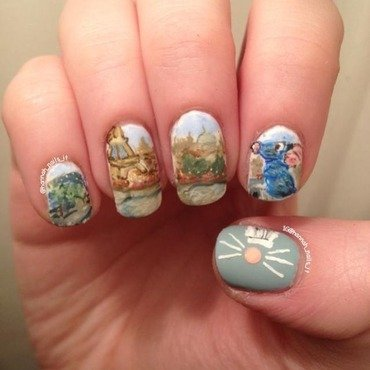 Ratatouille nail art by Hannah
