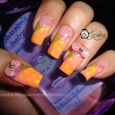 Cute Pastel Polka Dots Nail Art nail art by Leneha Junsu