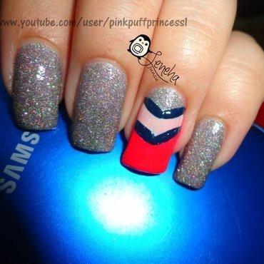 Chevron Nail Art nail art by Leneha Junsu