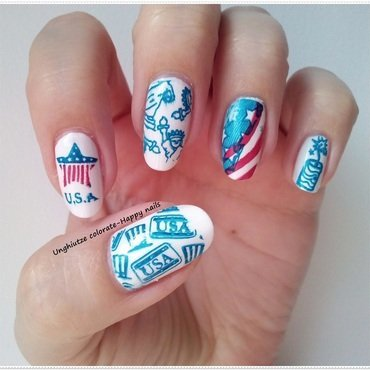 Happy 4th July nail art by Oana  Alexandru