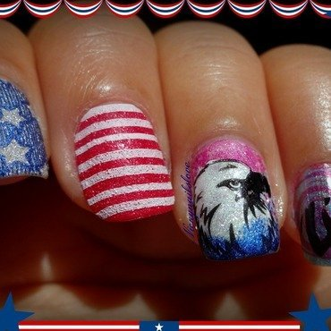 A very Happy 4th to all who celebrate. nail art by Nicky